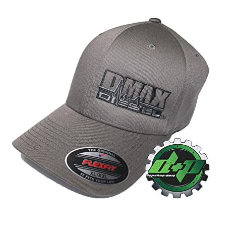 cf863033be2f5 Image Unavailable. Image not available for. Color  Diesel Power Plus  Duramax hat Ball Cap Fitted Flex fit Flexfit Stretch Dmax Dark Gray Grey