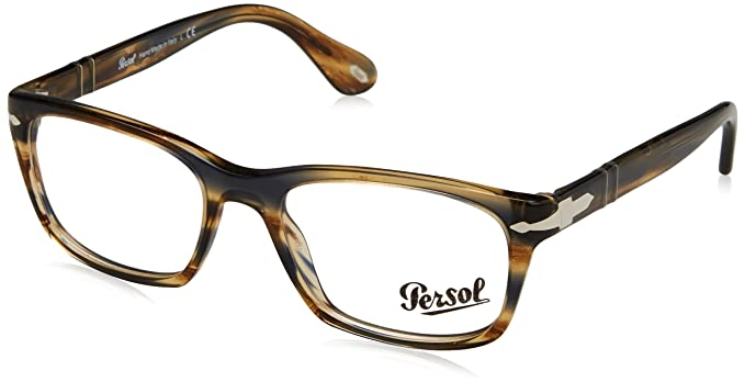 08b6bdc9ae Image Unavailable. Image not available for. Color  Persol Men s PO3012V Eyeglasses  Striped ...