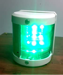 LARGE MARINE GREEN STARBOARD NAVIGATION LIGHT WATERPROOF 2 NM BOATS UP TO 20M
