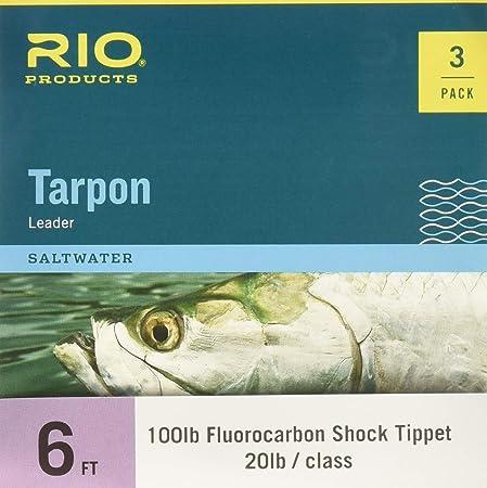 Rio Tarpon Fluorocarbon Shock Tippet Leader – 3 Pack