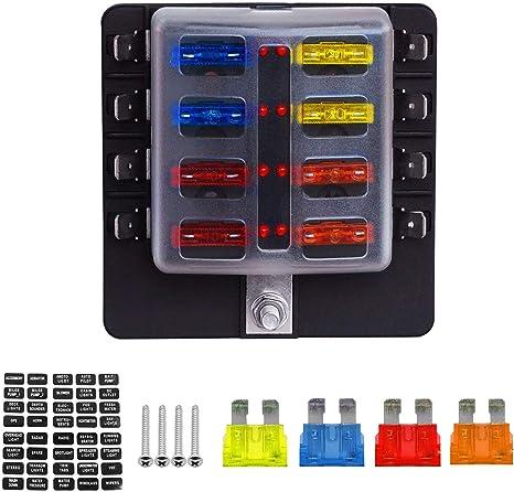 8-fach KFZ Auto Boot Sicherungshalter Sicherungsdose Sicherungskasten  DE