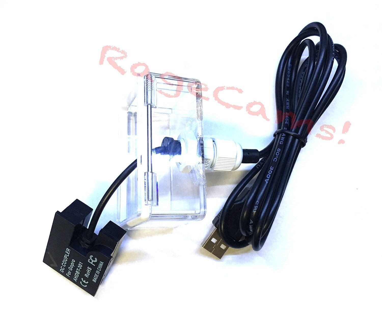RageCams Underwater DC Coupler USB Powered Battery Eliminator - Waterproof Back Door for GoPro Hero3 & Hero3+ Cameras (DIVE HOUSING)