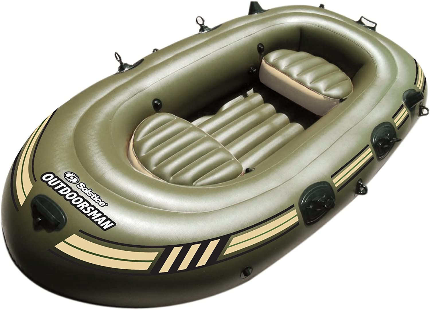 Amazon.com: Solsticio Outdoorsman inflable barco de pesca ...