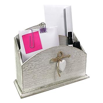Schreibtischorganizer 1 Fach 2 Haken Briefablage Postablage Briefständer