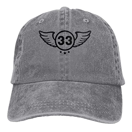 8490e1d42 Amazon.com: YYERINX Shield 33 F1 Cowboy Sports Hat Rear Cap ...