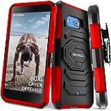 HTC U11 Case, Evocel [New Generation] Rugged Holster Dual Layer Case [Kickstand][Belt Swivel Clip] For HTC U11 (DOES NOT fit HTC U11 Life), Red (EVO-HTCU11-XX03)