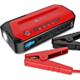 iClever 600A Peak 18000mAh Portable Jump Starter (up to 6.5L gas or 4.0L diesel Engine) Auto Battery Booster, Power Bank and Phone Charger with Dual USB Ports, Car Charger and AC Adapter
