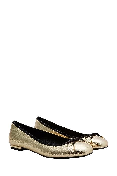 next Mujer Zapatos Zapatillas Bailarinas Francesitas Puntera Cuadrada Adorno De Lazo: Amazon.es: Zapatos y complementos