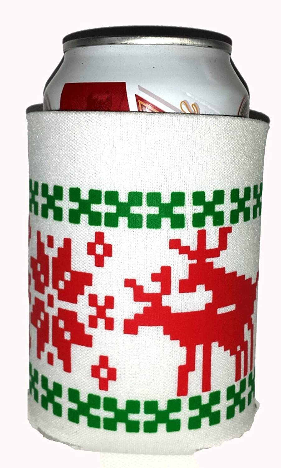 Amazon.com: Ugly Christmas Sweater Party Can Cover Huggie Beer ...