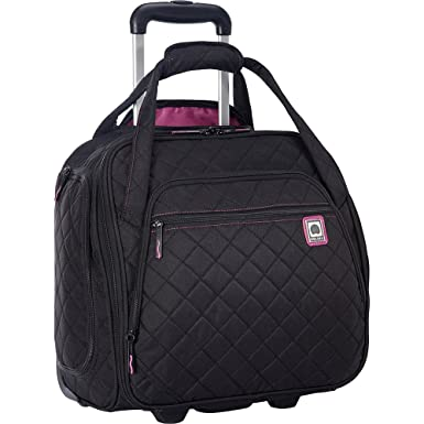 Amazon.com   Delsey Quilted Rolling UnderSeat Tote- EXCLUSIVE ... : it quilted luggage - Adamdwight.com