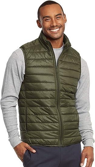 Mens New Track Nylon Puffer Jacket Classic Lightweights Warm Comfy Zipper Vest