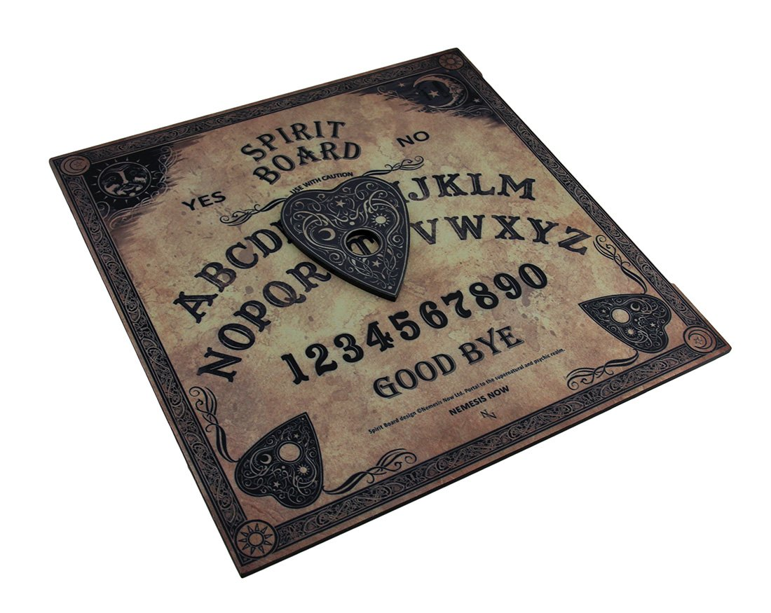 Zeckos Wood Occult Fortune Telling Toys Nemesis Now Celestial Antique Look Wooden Spirit Board 15 X 15 X 0.25 Inches Black FANTASY GIFTS