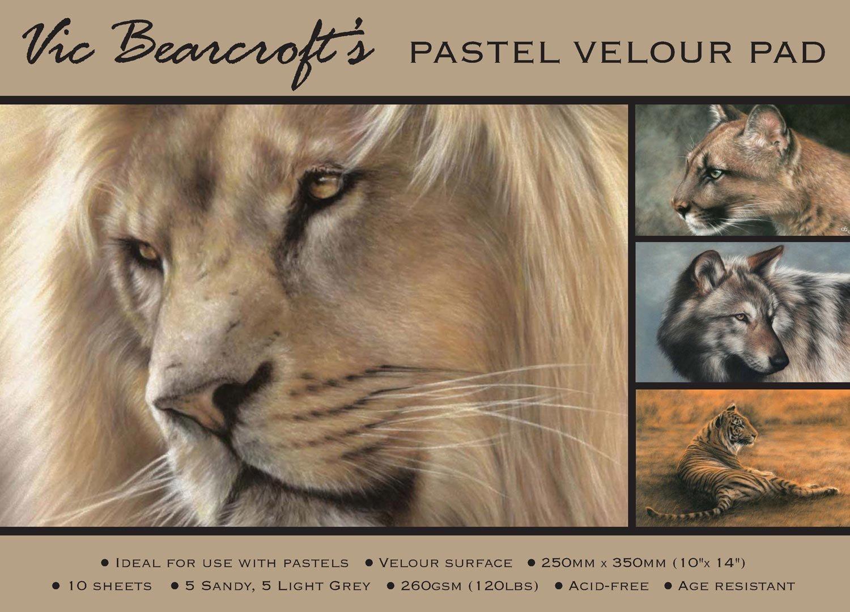 Vic Bearcroft Pastel Velour Pad - Regular Sandy and Light Grey (250mm x 350mm) Tal Media Ltd T/a Artcoe