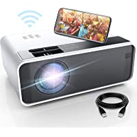 Mini Projector for iPhone, ELEPHAS WiFi Movie Projector with Synchronize Smartphone Screen, 1080P HD Portable Projector…