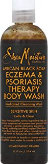 product image for SHEA MOISTURE African Black Soap Eczema Psoriasis Medicated Cleanser for Sensitive Skin 12 oz
