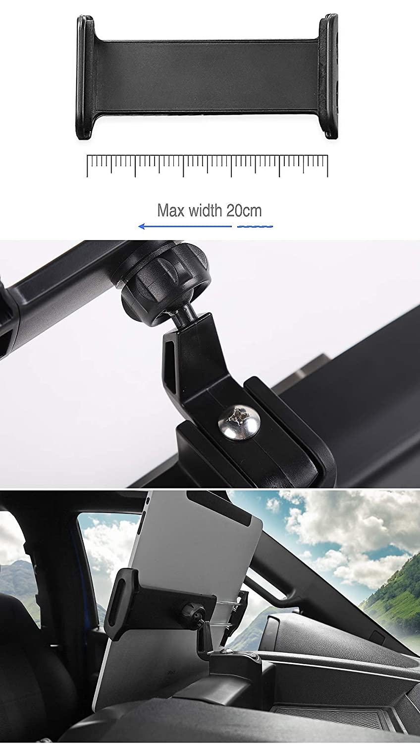 Nicebee Car GPS Mobile Phone Ipad Holder Bracket Cellphone Stand Stickers for Ford F150 2015-2018 Ipad Holder
