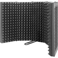 Aislamiento Del Micrófono Escudo Pop Filtrar La Espuma De Eva Negro 5-panel Plegable Estudio Equipo De Grabación