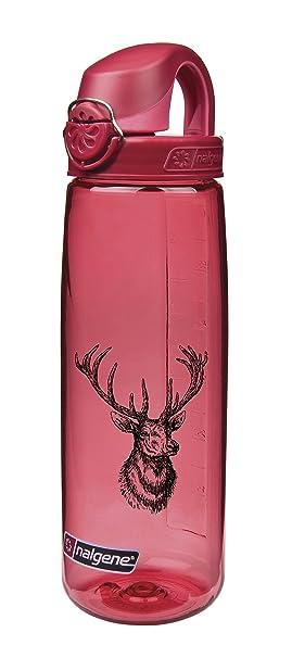 Nalgene - Bidón Plástico botellas Everyday OTF - Cantimplora (0,7 l), rot/Hirschkopf, 0,7 L: Amazon.es: Deportes y aire libre