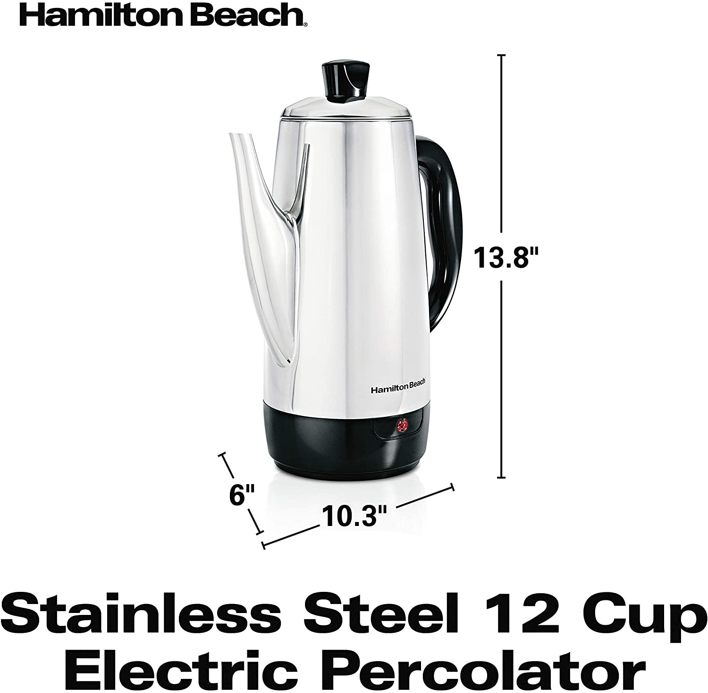 Hamilton Beach 40616 Cafetera Cafetera moka el/éctrica, Acero inoxidable