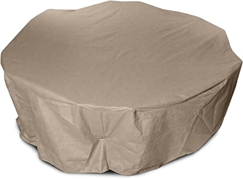 KoverRoos III 31252 72-Inch Round Dining Set Cover, 108-Inch Diameter by 28-Inch Height, Taupe