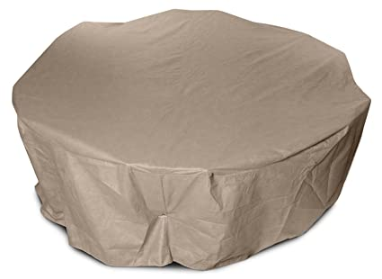 KoverRoos III 31262 80 Inch Round Table High Back Dining Set Cover, 114