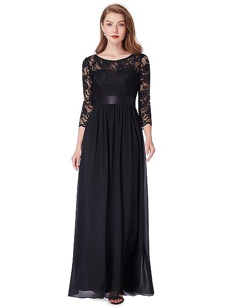 4238fd05fa7 Ever Pretty Womens Elegant 3 4 Sleeve Lace Long Evening Dress 08412   Amazon.co.uk  Clothing