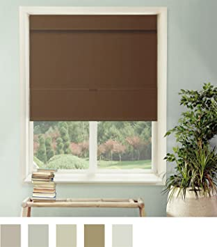 Chicology Cordless Magnetic Roman Shades Window Blind Fabric Curtain Drape Thermal Room Darkening