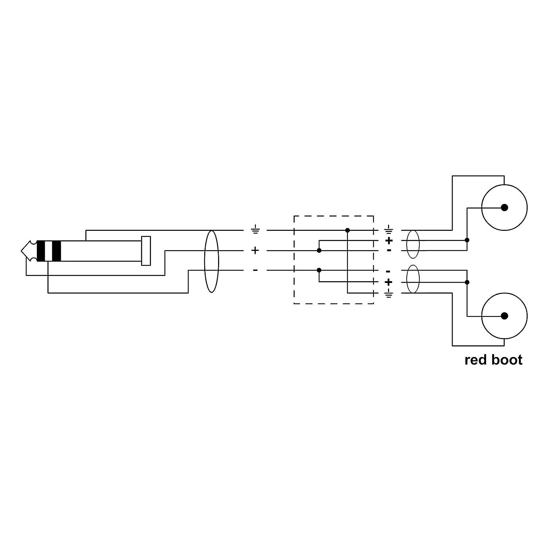 Cordial CFY 1,5 WCC Y-Adapterkabel Klinke 3,5mm stereo gold//2x Cinch gold, L/änge 1,5m