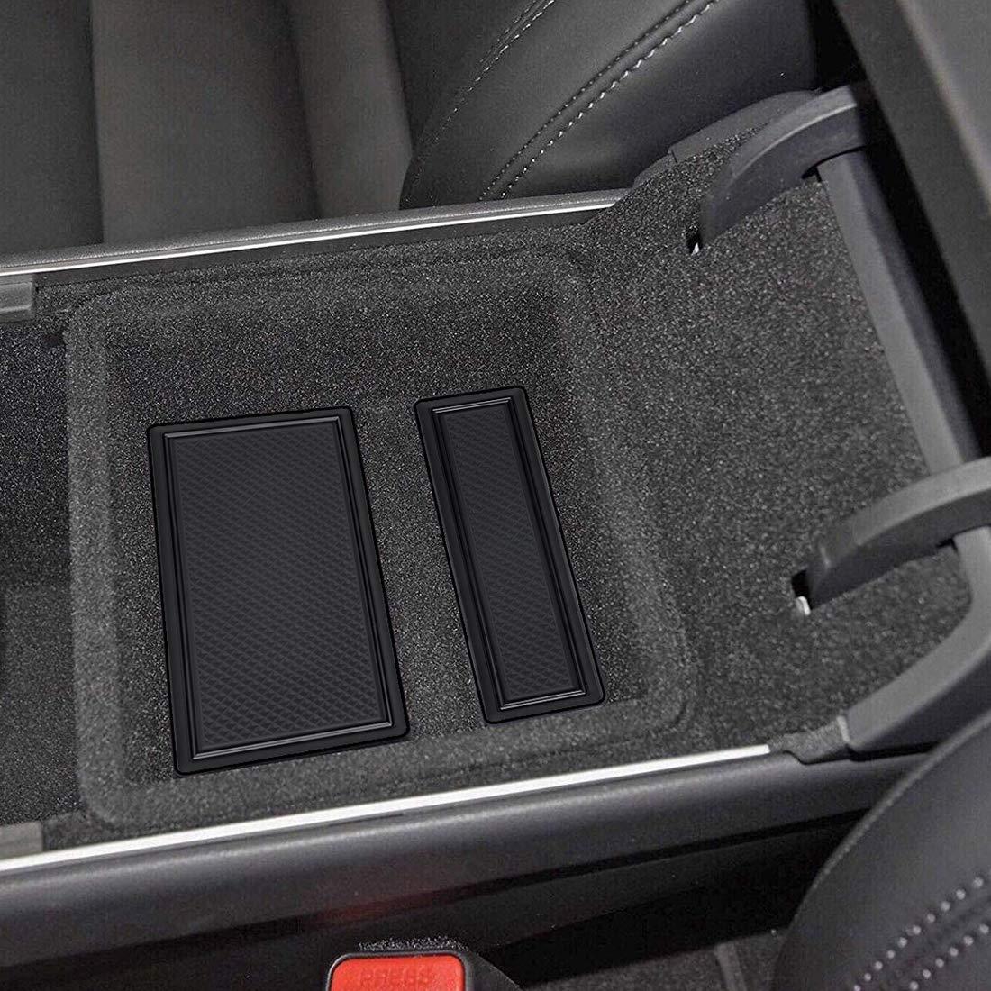 Blanc BougeRV Tesla Mod/èle 3 Accesoires Tapis de Sol imperm/éables en Caoutchouc