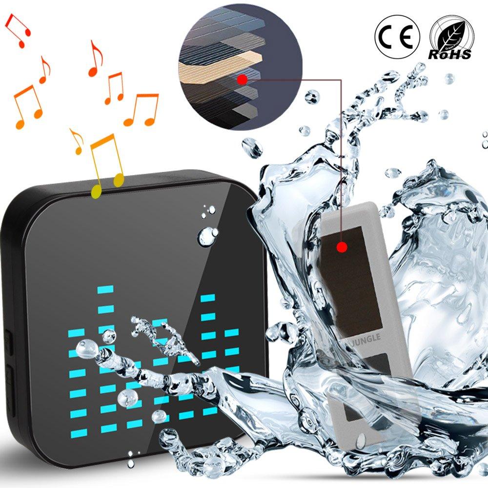 Wireless Doorbell Kit, OJA Premium Waterproof Remote Cordless Door ChimeSolar Elderly Pager Operating at 1000-feet Range 1 Solar transmitter 1 Musical Receiver 1bell+1chime