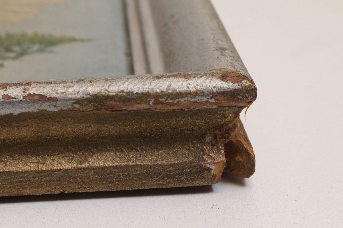 vintage13.de Bilderrahmen Holzrahmen Stuck barock Silber 45,5 x 35,5 ...