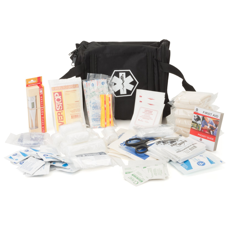Eco Medix First Aid Kit Emergency Response Bag Fully Stocked (Black) by eco medix (Image #1)
