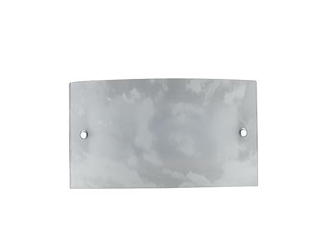 Fan europe applique selene vetro bianco sfumato led 12 w 18x32