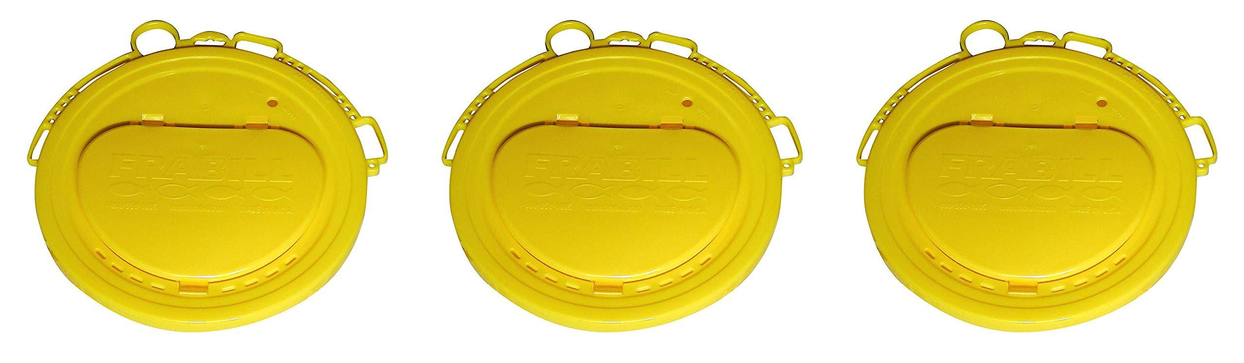 Frabill Deluxe Bait Bucket Lid (Тhrее Расk)
