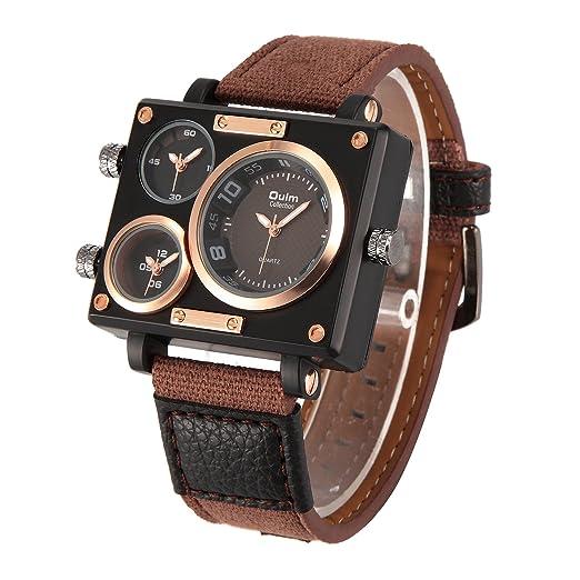 Oulm 3595 Men S Watches Top Luxury Brand Unique Designer Fashion Leather Strap Japan Movt Quartz Watches