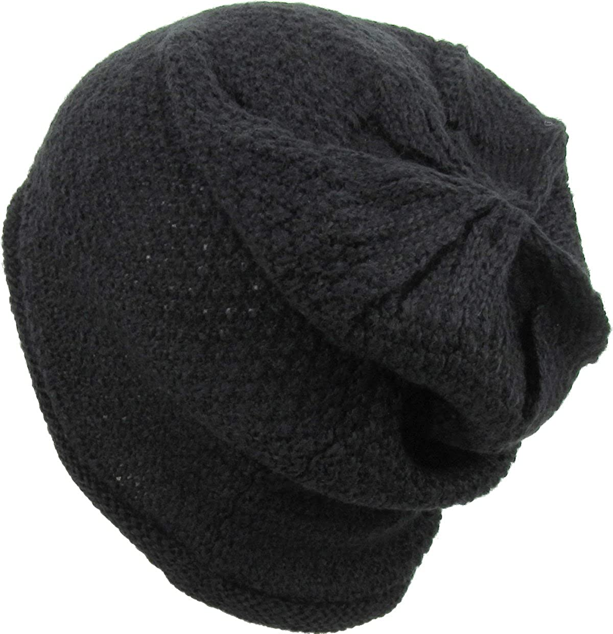 f2d28c8aa46 Amazon.com  Super Warm Wool Fell Short Ribbed Slouch Beanie Fur Lined Winter  Knit Hat Skull Cap  Clothing