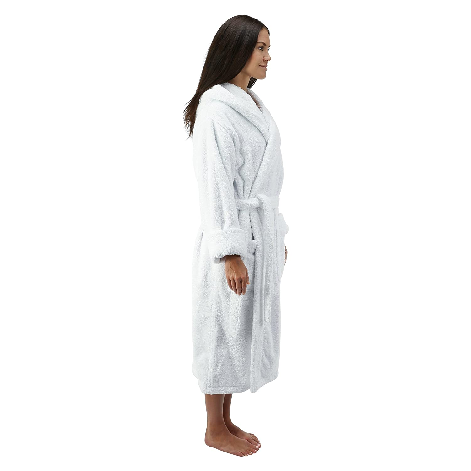 966a30f9dec6f Comfy Robes Personalized Womens Deluxe 20 oz. Turkish Cotton Hooded Bathrobe  XPR300