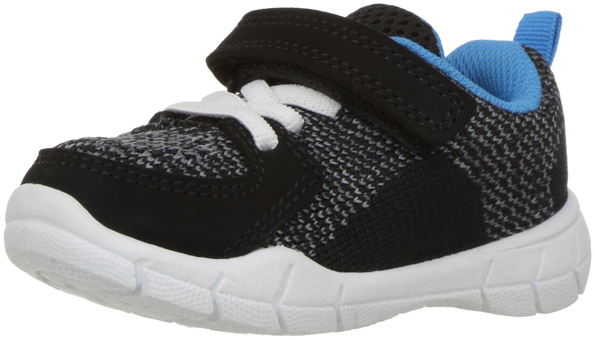 Carter's Boys' Avion-B Athletic Sneaker, Black, 6 M US Toddler