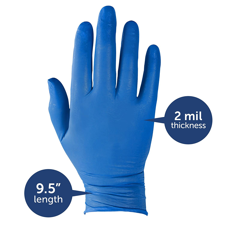 Kleenguard G10 Guantes de Nitrilo Azul /Ártico 90095-200 guantes ambidiestros azules de 24 cm paquete con 10 cajas talla X-Peque/ño