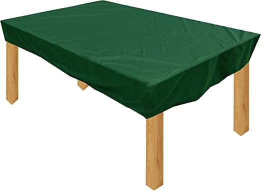 KaufPirat Premium Funda para Muebles de Jardín 135x95x15 cm Cubierta Impermeable Funda para Mesa para Mobiliario de Exterior Abeto Verde: Amazon.es: Jardín