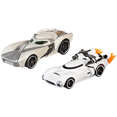Hot Wheels Boys Star Wars Character Car Rey vs First Order Flametrooper (2 Pack): Toys & Games