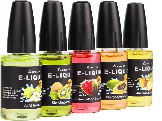 Salcar® 5x20ml Set de colores de Premium E-Líquido para ...
