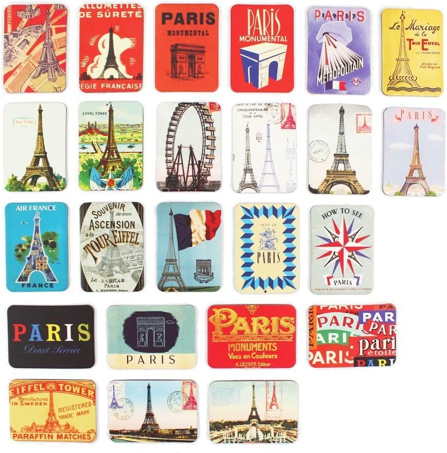Amazon Com Refrigerator Magnets Set Of 24 Paris Eiffel Tower Souvenirs Magnetic Fridge Magnet Home Decoration Accessories Arts Paste Crafts Kitchen Dining