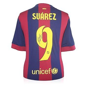 Luis Suárez del Barcelona firmada 2014-15 camiseta de fútbol: Amazon.es: Deportes y aire libre