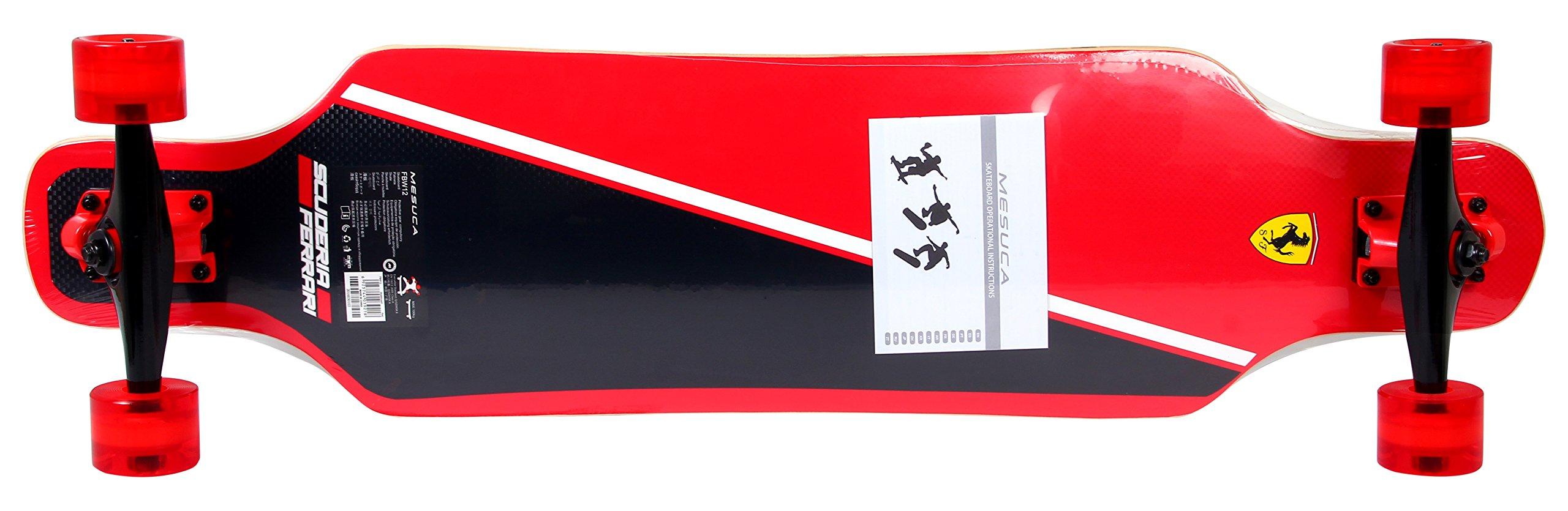 Ferrari Long Board Skateboard, Black