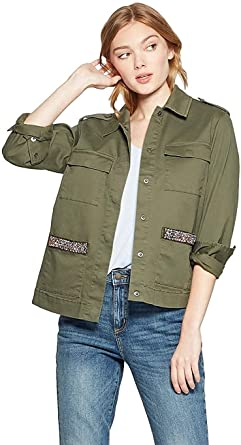 A New Day Chaqueta Militar Para Mujer Con Cuentas De Bolsillo Clothing