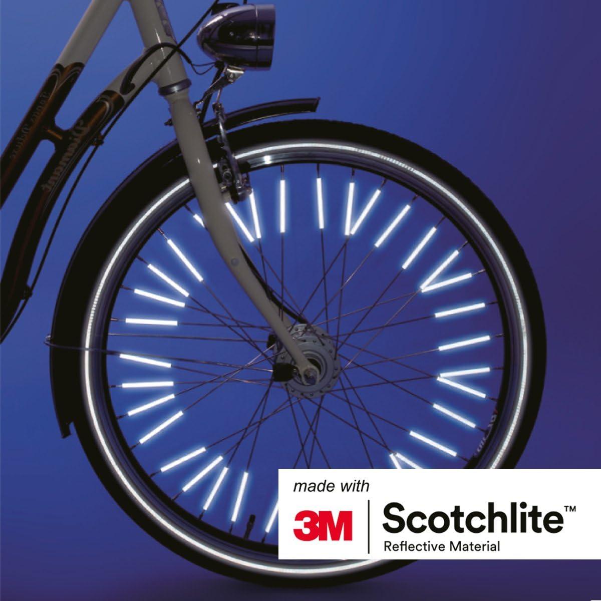 36stk//72stk Speichensticks reflektierend Fahrrad Reflektoren Speichenreflektor w