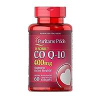 Puritans Pride Q-sorb CoQ10 400 Mg-60 Rapid Release Softgels, 60 Count