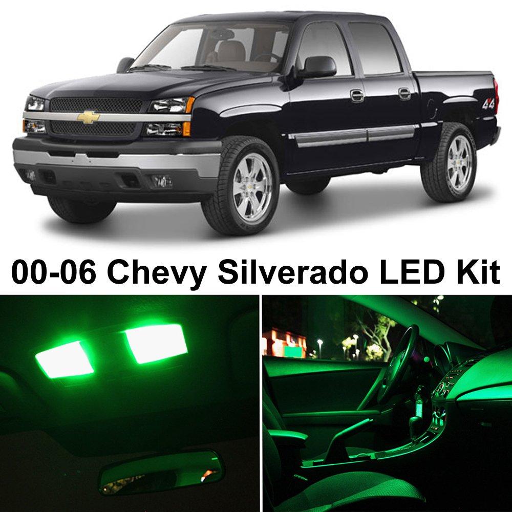 Silverado 2001 chevy silverado interior : Amazon.com: LEDpartsNow Chevy Silverado 1999-2006 GREEN Premium ...