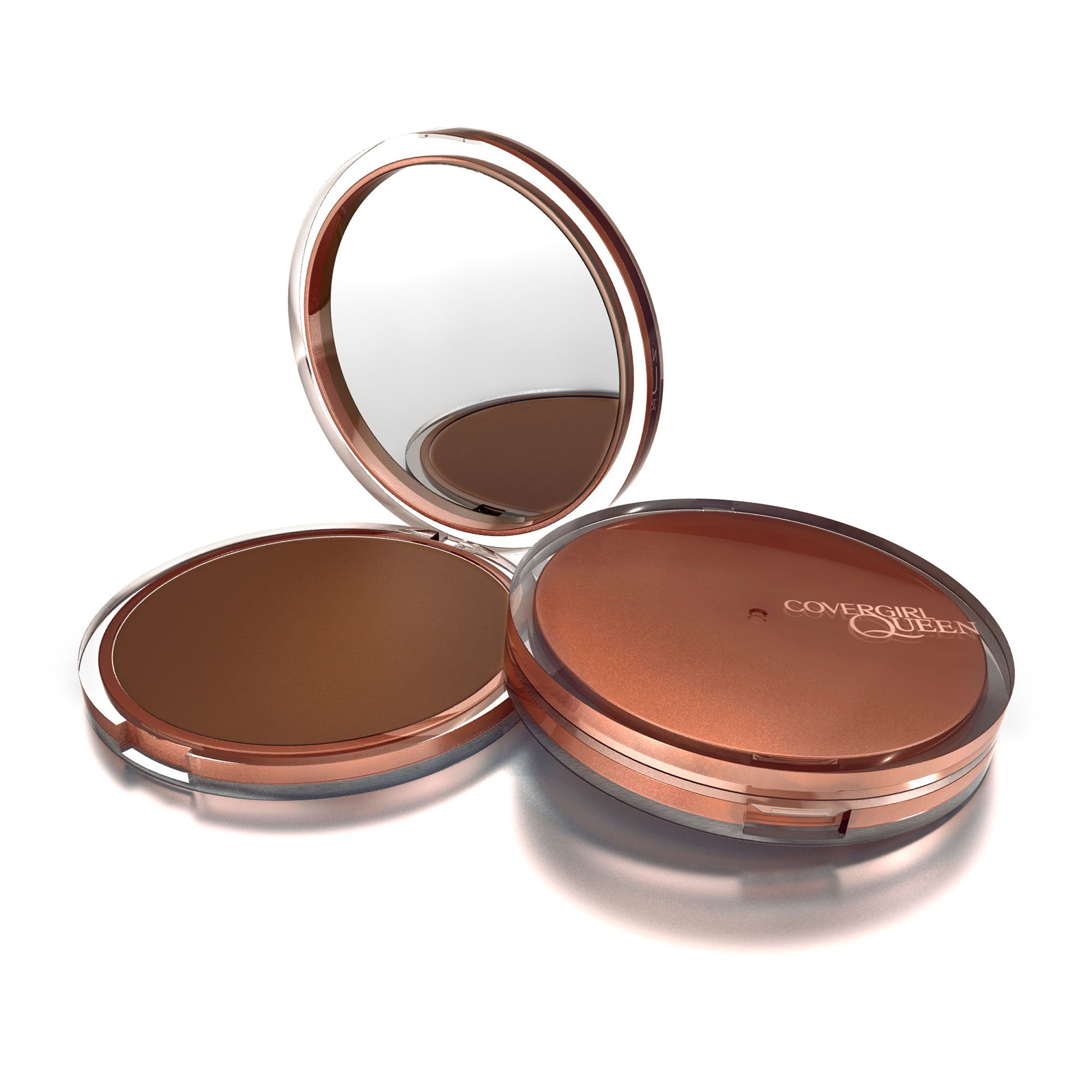 COVERGIRL Queen Collection Natural Hue Mineral Bronzer, 1 Container (0.39 oz), Ebony Bronze Tone, Hypoallergenic, For Darker Skin Tones